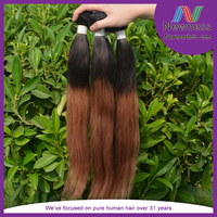 human hair weft straight brazilian weave weave #30 color