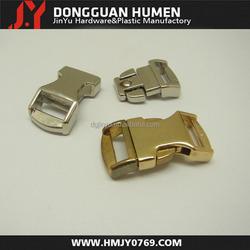 curved metal side release buckle , metal bag buckle , Quick release metal buckle