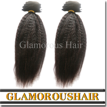 Wholesale Virgin Hair Natural Hair Extensions, Mongolian Kinky Straight Yaki Hair Weave