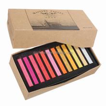 Recién llegado de 36 colores moda temporal Color de pelo tiza Pastel cuadrado con la caja Salon Party navidad DIY para belleza