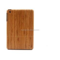 Luxury 2 part Bamboo Wood Hard Back wood case for ipad mini wholesale