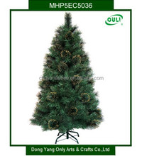 BSCI ! 5FT Mixed Pine Needle Christmas Tree For Russia Market