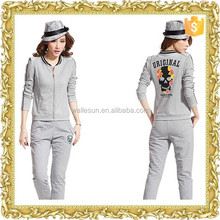 New arrival custom printing cotton zipper up shopping women jacket factory price