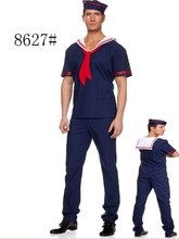 sexy de color azul marino para hombre de moda traje de marinero