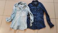 High quality cheap price 100% cotton Women casual shirt stocklots