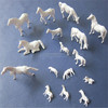 farm plastic toy animals model plastic horse white action running horse animal