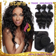 Natrual Color Hair Products Hot Selling Wholesale 100%Unprocessed 5A Brazilian Loose Wave Human Hair Extension