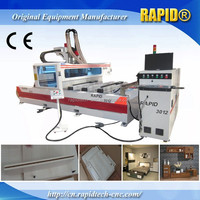 RD-3012 MDF/office furniture making Single arm CNC router wood