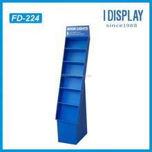 design pop cardboard floor display stand racks for book light