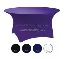 wholesale round table spandex table cover/poker table cover/round table covers round fitted