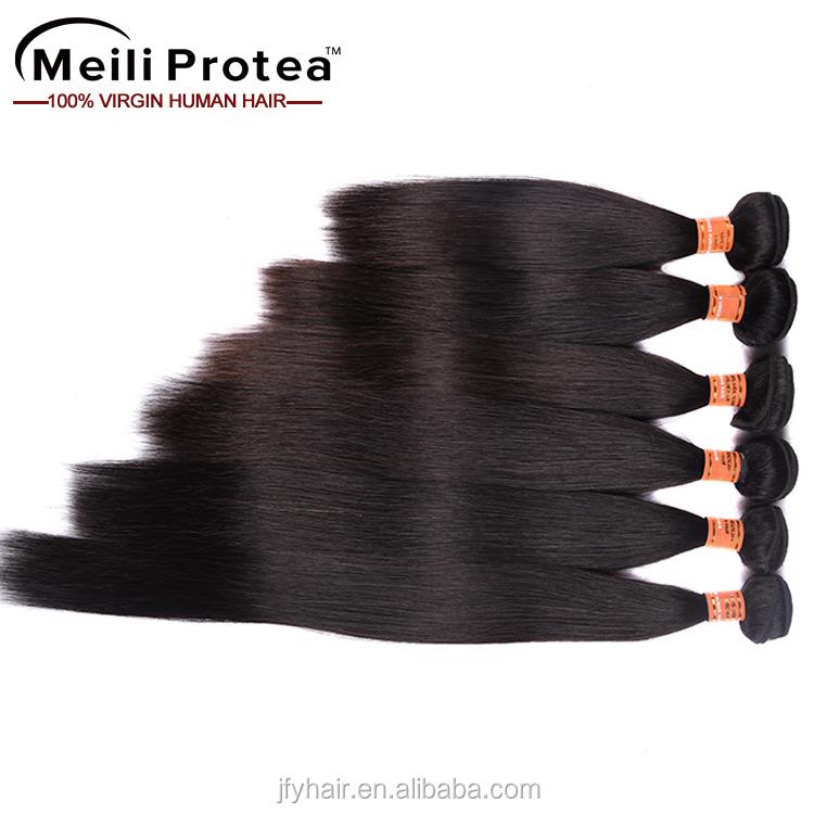 Produtos Mais Vendidos 2017 Único doador 8a grade real virgin Brasileiro do cabelo de seda em linha reta por atacado em moçambique