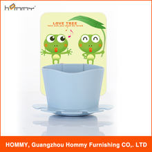Cute silicone pad plastic toothbrush&toothpaste holder combined in one for toilet sets