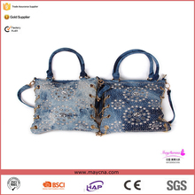 China Hot selling bags/fashion denim jeans bag/comfortable strap shoulder bag