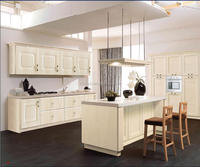 Classic wood kitchen cabinets with modern design