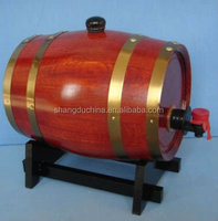 5L used high quality factory price wooden wine barrel