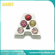 Factory wholesale 5-10mm fashion letter diamond floating charms