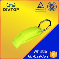 Logo Printed Cheap Sport Safety Flat Plastic Whistle