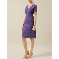 Purple Lace V Neck Nylon Bodycon Sexy Work Dress / Wholesale Custom Lace Tight Fitted Plus size office dress