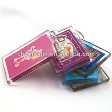 guangzhou manufacturer oem custom promotional clear photo plastic acrylic keychain