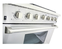 4 Burner Gas Range Gas Stove with 16500BTU Infrared Broiler Oven