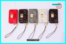 Hottest MK zipper leather case for Iphone 4,4s,5,5s,5c