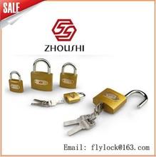 63mm Golden flash arc padlock with computer keys