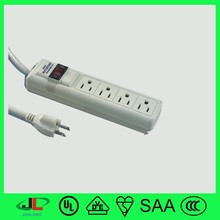 High quality UL approval extension cord nema 5-15P plug and nema 5-15R socket with 4 outlet power board