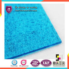 Lake blue Litchi grain Polycarbonate Embossed Solid Sheet for sunshade/ceiling
