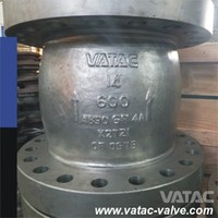 API6D flanged ends Casting Stainless Steel Non slam check valve