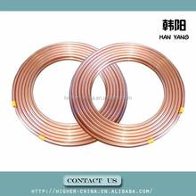 air conditioner copper pipe copper 6.35*0.56 , finned copper tube coils 6.35*0.56 , size of air condition copper tube 6.35*0.56