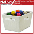 naham tela de alta calidad de almacenamiento cesta de tela de lujo bolsa de almacenamiento con asas