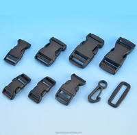 Custom high quality plastic POM black bag buckle