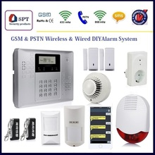 wireless fire alarm control panel, rf system shopping mall anti-theft alarm
