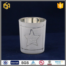 New design glass star candle holders christmas decor wholesale