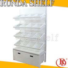 basketball stand shelves with hidden brackets floor display candy rack