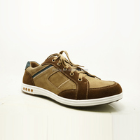 OEM welcome suede/leather upper fashion style men leather sport shoes factory