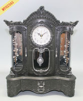 music box three door cabinet clock home decor made in china
