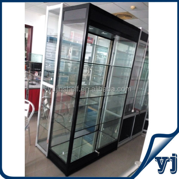 cheap lockable glass display cabinets 1