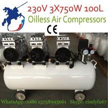 6x55mm 2250w 230v 0.8Mpa 1400rpm 100L air compressors
