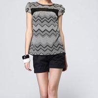 Fashionable hot selling big bow blouse