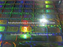 Security Holographic Dot - Matrix Sticker