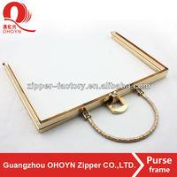 No.8764 fashion Metal Clutch handbag Frame hardware purses and handbags with handle