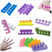 Nail tools lovely duck shape EVA Soft Finger Toe Separators for nail art pedicures feet care