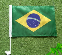 2015 Brazil best hand wave flag for sports political campaign