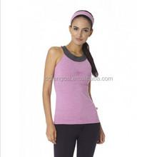 Ladies Fashion Fitness Sports Custom New Design Cross Back Yoga Top