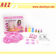 B/O and DIY Spin art nail salon kids educational toys