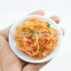 fake pasta/spaghetti design fridge magnet for high quality promotion gift items in arts and crafts