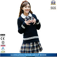Comfortable Cotton Blank Fitted Sweater Designs for Girls,Top quality OEM service,SCHD-6