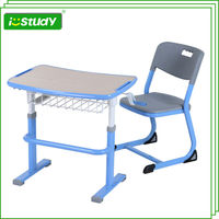 E1 Standard MDF Wood primary school child study table and chair
