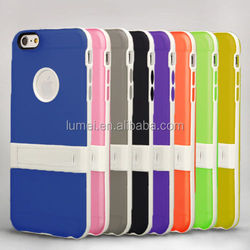 Colorful Slim Shockproof Kickstand Case For Iphone 6